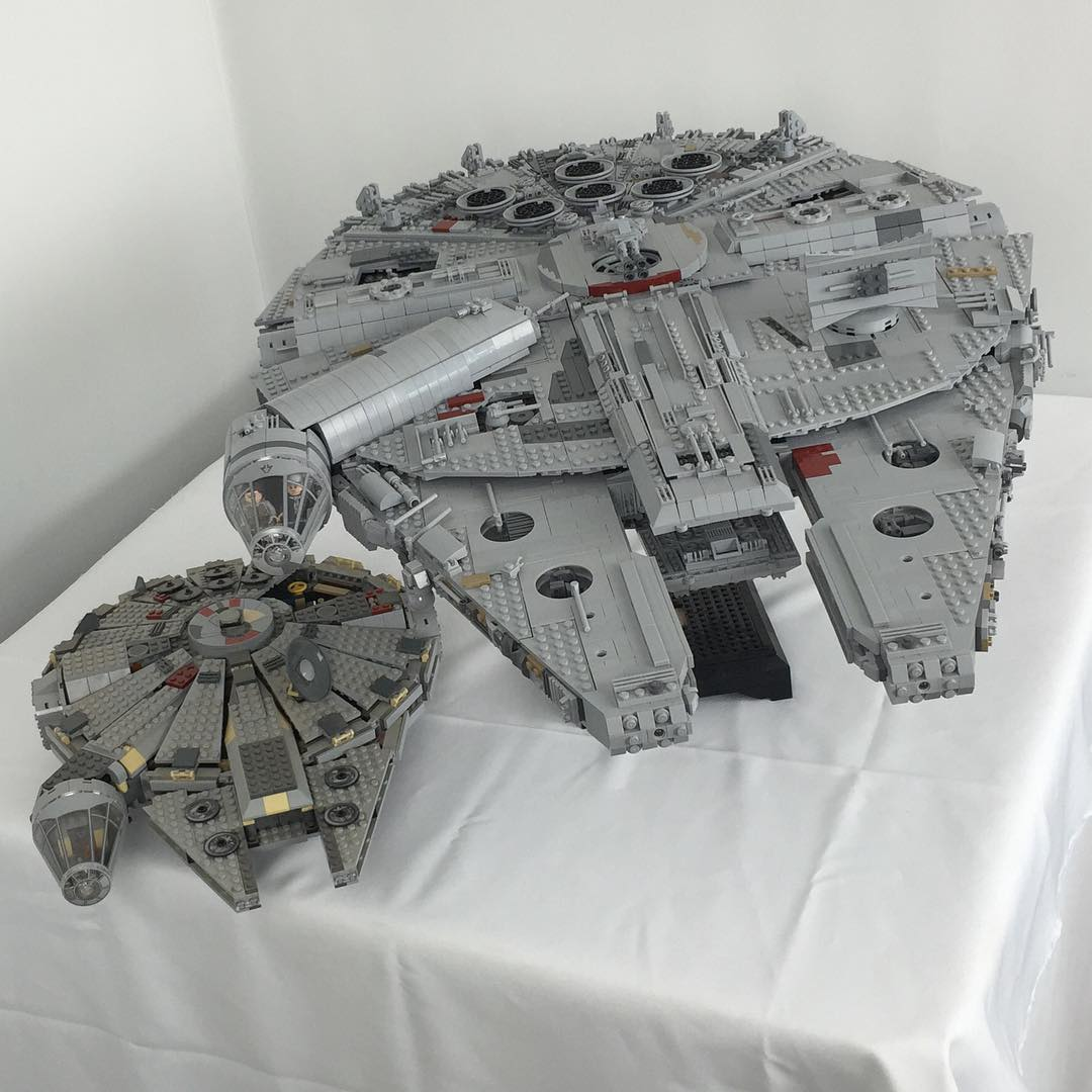instructions only lego star wars custom ultimate millennium falcon brick. Black Bedroom Furniture Sets. Home Design Ideas