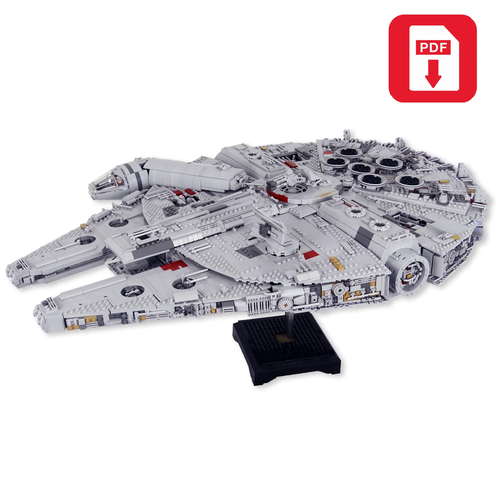 Instructions Only Lego Star Wars Custom Ultimate Millennium Falcon